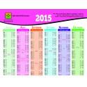 Calendrier Mana Assurances 2015