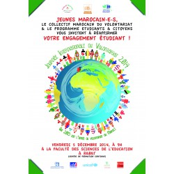 Affiche journée international au volontariat 2014